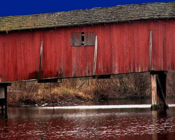 Bridge Poster featuring the photograph Covered Bridge by Michael L Kimble