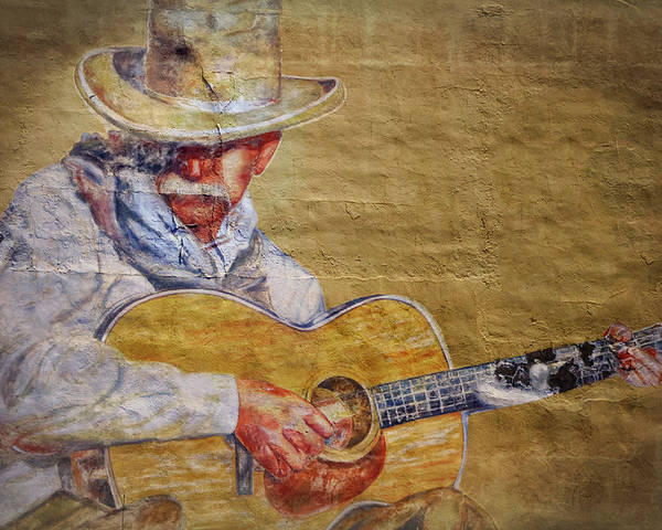 Cowboy Poster featuring the photograph Cowboy Poet by Joan Carroll