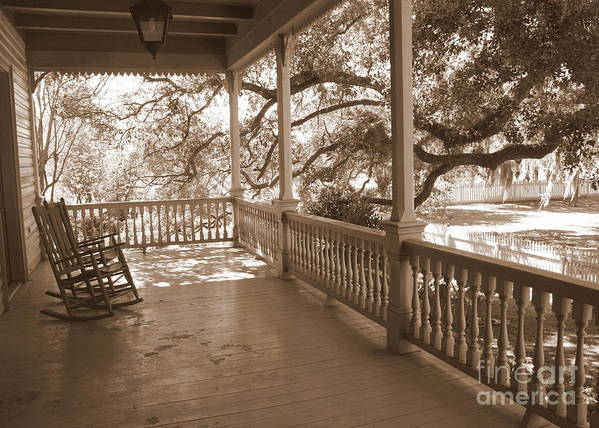 Porch Poster featuring the photograph Cozy Southern Porch by Carol Groenen