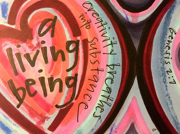Creativity Poster featuring the painting Creativity Breathes by Vonda Drees