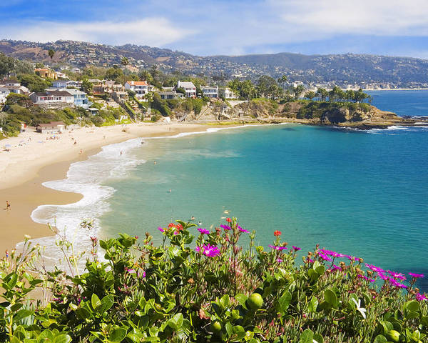 Scenery Poster featuring the photograph Crescent Bay Laguna Beach California by Utah Images