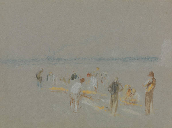 19th Century Art Poster featuring the painting Cricket On The Goodwin Sands by Joseph Mallord William Turner