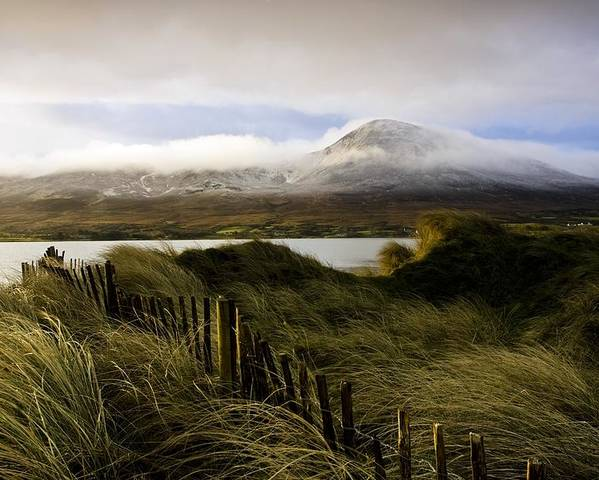 Cloud Poster featuring the photograph Croagh Patrick, County Mayo, Ireland by Peter McCabe