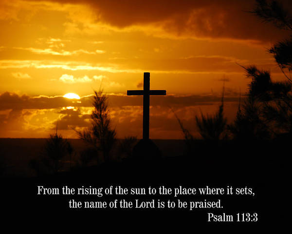 Christian Poster featuring the photograph Cross at Sunrise by Steven Rice