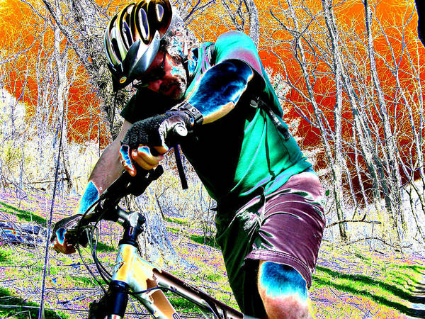 Mountian Bike Poster featuring the digital art Cross Country by Peter McIntosh