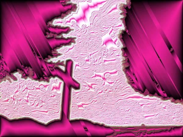 Jesus Christ Poster featuring the pyrography Cross by Petra Olsakova