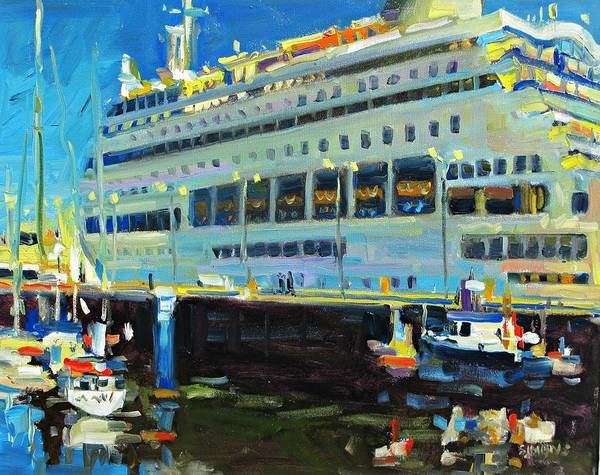 Paintings Poster featuring the painting Cruise Ship by Brian Simons