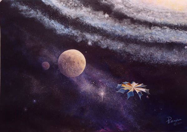 Blue Poster featuring the painting Cruising The Stars by Diane Ellingham