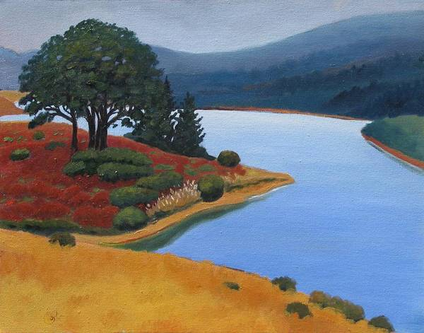 Reservior Poster featuring the painting Crystal Springs by Gary Coleman