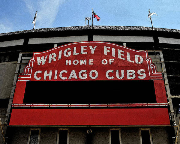 Wrigley Field Poster featuring the digital art Cub's House by Lyle Huisken