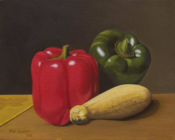 Vegetables Poster featuring the painting Cucina Italiana by Kirk Graham