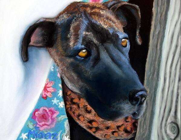 Great Dane Poster featuring the painting Whats Going On? by Minaz Jantz