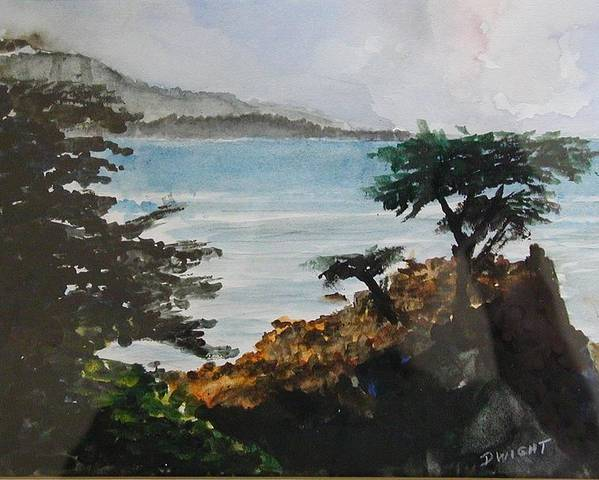 Coastal Pine Poster featuring the painting Cypress by Dwight Williams