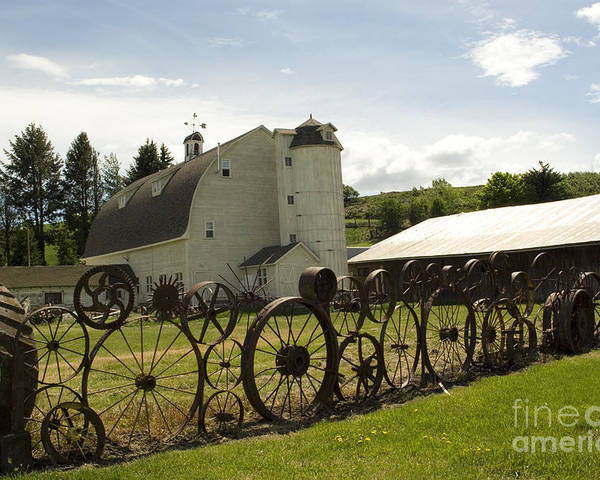 Historic Barn Poster featuring the photograph Dahmen Barn by Louise Magno