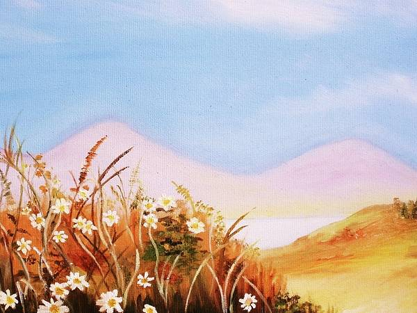 Landscape Poster featuring the painting Daisy Hill by Marie Higgins