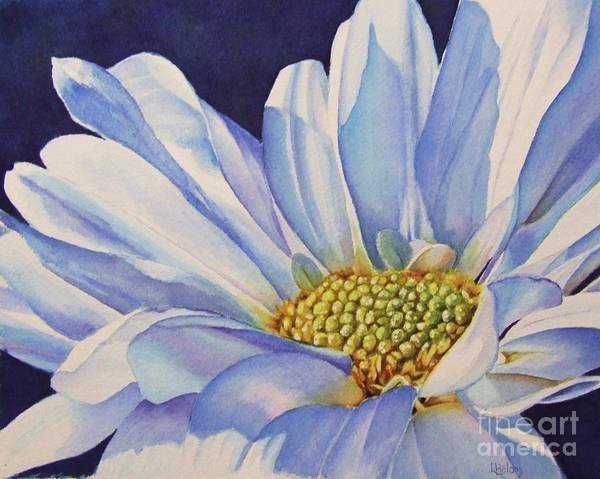 Daisy Poster featuring the painting Daisy by Greg and Linda Halom