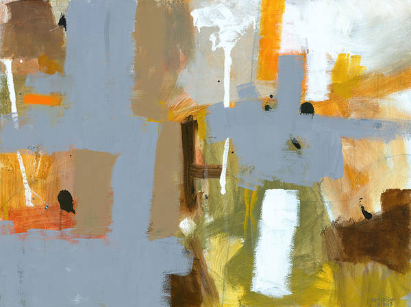 Abstract Poster featuring the painting Dakota Street 6 by Douglas Simonson
