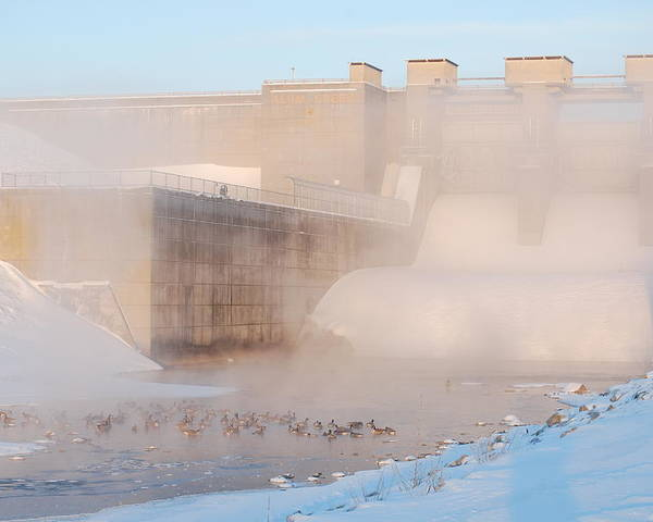 Dam Poster featuring the photograph Dam Cold by Peter McIntosh