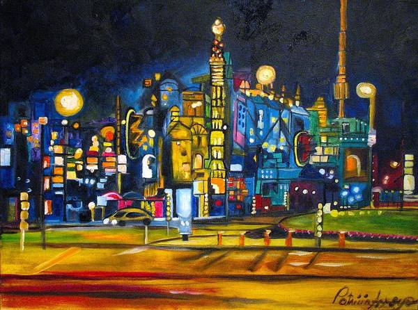 Cityscape Poster featuring the painting Dam Square by Patricia Arroyo