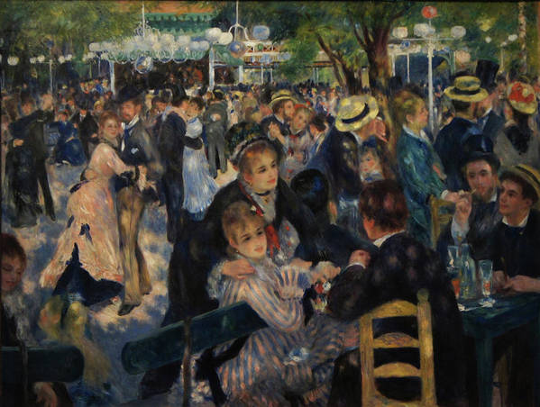 Impressionist Poster featuring the painting Dance at Moulin de la Galette by Pierre Auguste Renoir