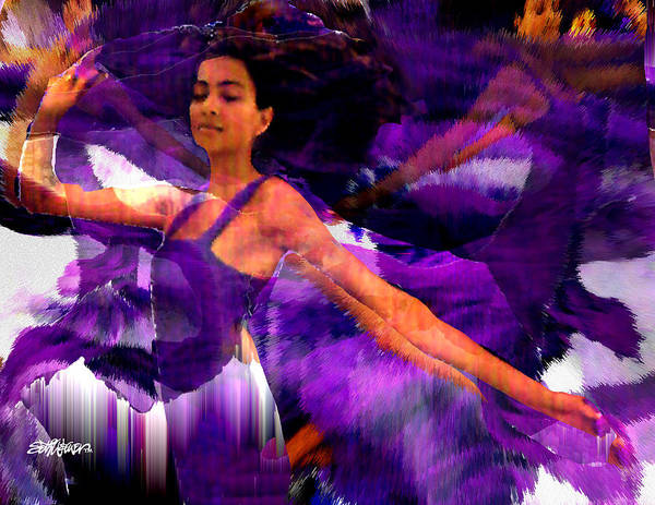 Mystical Poster featuring the digital art Dance Of The Purple Veil by Seth Weaver