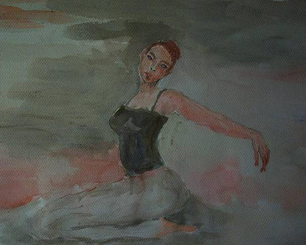 Dance Poster featuring the painting Dancer by Liliana Andrei