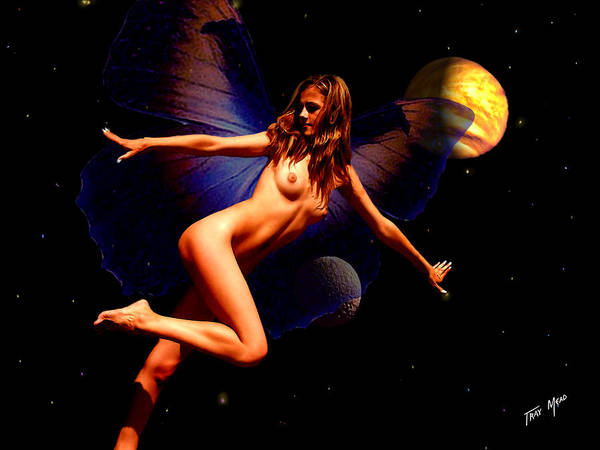 Fairy Poster featuring the painting Dancing In Space by Tray Mead
