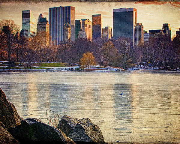 Central Park Poster featuring the photograph Danger - Thin Ice by Chris Lord
