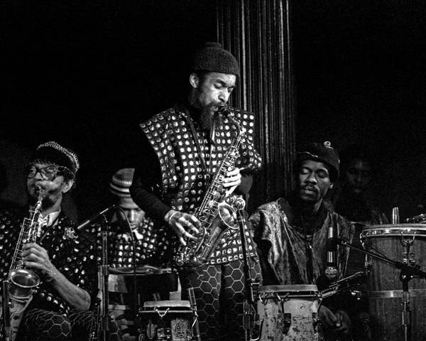 Jazz Poster featuring the photograph Danny Davis With Sun Ra Arkestra by Lee Santa