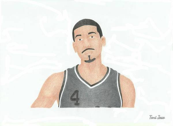 Danny Green Poster featuring the drawing Danny Green by Toni Jaso