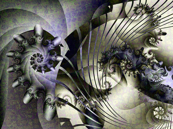 Fractal Poster featuring the digital art David's Lyre by David April