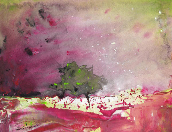 Watercolour Landscape Poster featuring the painting Dawn 09 by Miki De Goodaboom