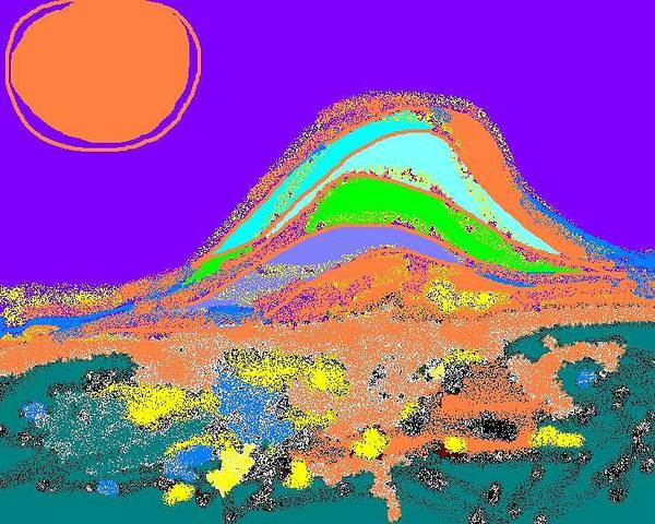 Poster featuring the digital art Dawn II by Beebe Barksdale-Bruner