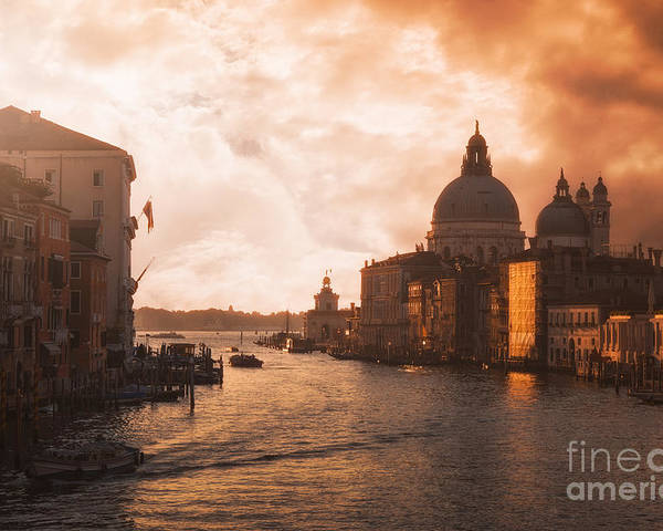 Adriatic Poster featuring the photograph Dawn In Venice by Traven Milovich