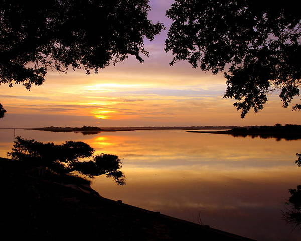 Sunsets Poster featuring the photograph Dawn by Karen Wiles