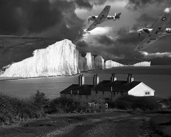 Spitfire Poster featuring the photograph Dawn Patrol by Kris Dutson