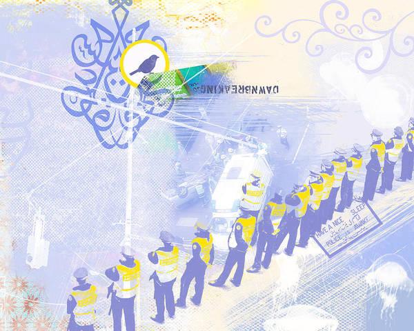 Bahai Poster featuring the digital art Dawnbreaking by Misha Maynerick