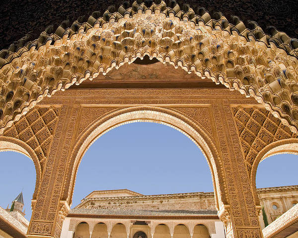 decorative moorish architecture in the nasrid palaces at the