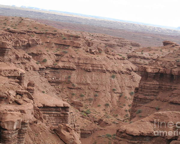 Landscape Poster featuring the photograph Deep Canyon In Utah by Linda Ostby