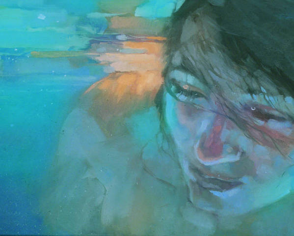 Underwater Poster featuring the painting Deep Submerge 2 by Sabina Mnkowska
