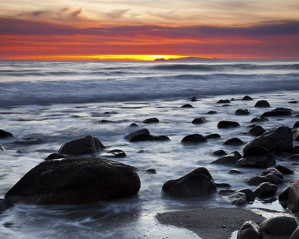 Beaches Poster featuring the photograph Deer Creek Canyon Sunset by Greg Clure