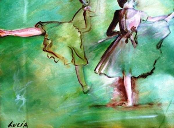 Ballet. Ballerina. Print. Poster featuring the print Degas' Dancers by Carl Lucia