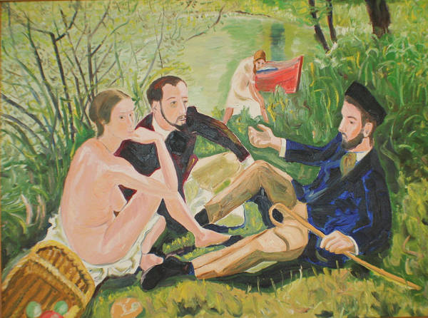 Poster featuring the painting Dejeuner Sur L'herbe by Biagio Civale