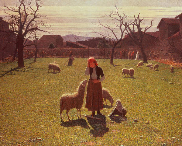 Deluded Poster featuring the painting Deluded Hopes by Giuseppe Pellizza da Volpedo