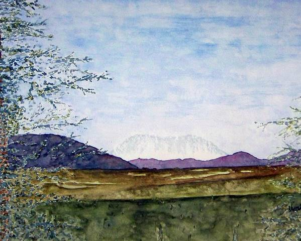 Alaska Art Poster featuring the painting Denali In July by Larry Wright