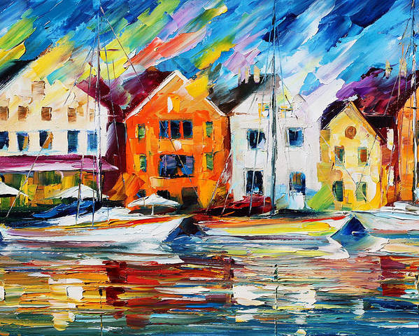 Afremov Poster featuring the painting Denmark by Leonid Afremov