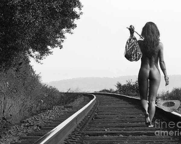 Nude Poster featuring the photograph Derailed by Naman Imagery