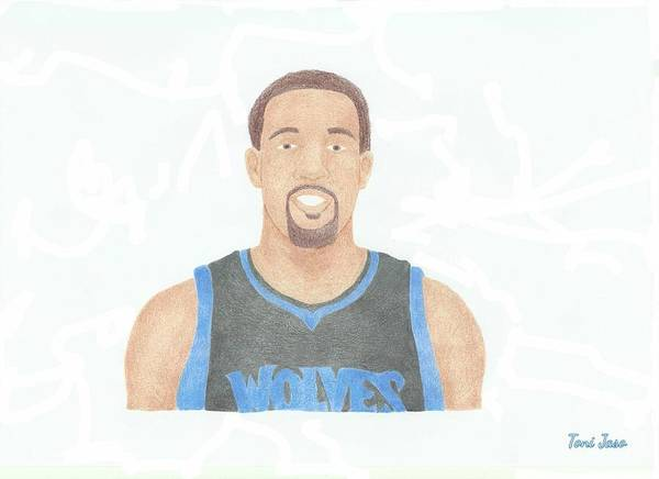 Derrick Williams Poster featuring the drawing Derrick Williams by Toni Jaso