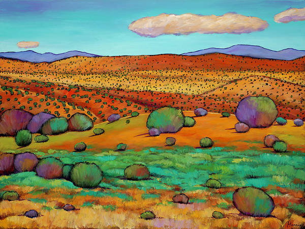 New Mexico Desert Poster featuring the painting Desert Day by Johnathan Harris