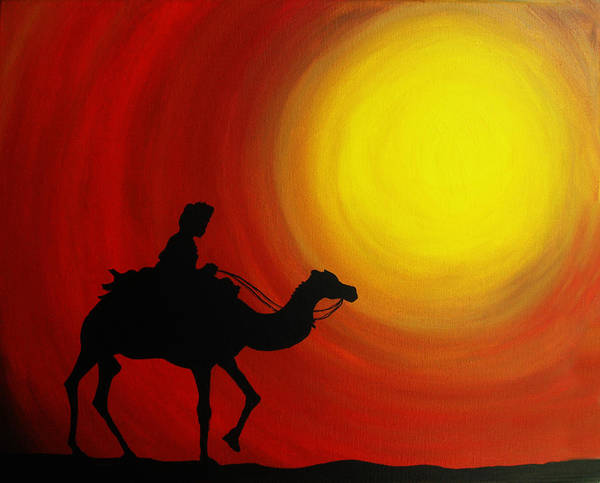 Adventure Poster featuring the painting Desert King by Ramneek Narang